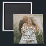 """Wedding Photo Thank You Favor Magnet<br><div class=""""desc"""">Thank you magnets for your wedding guests - customized with your photo and names.</div>"""