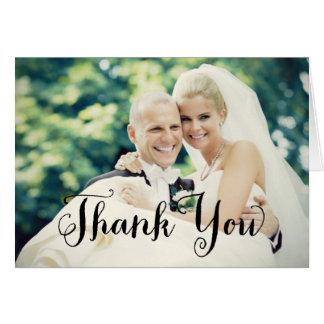 Wedding Photo Thank You   Folded Style Card