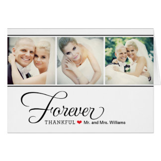 Wedding Photo Thank You Note Cards Black + White Cards