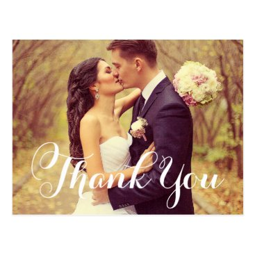 Plush_Paper Wedding Photo Thank You Note Cards | Postcard