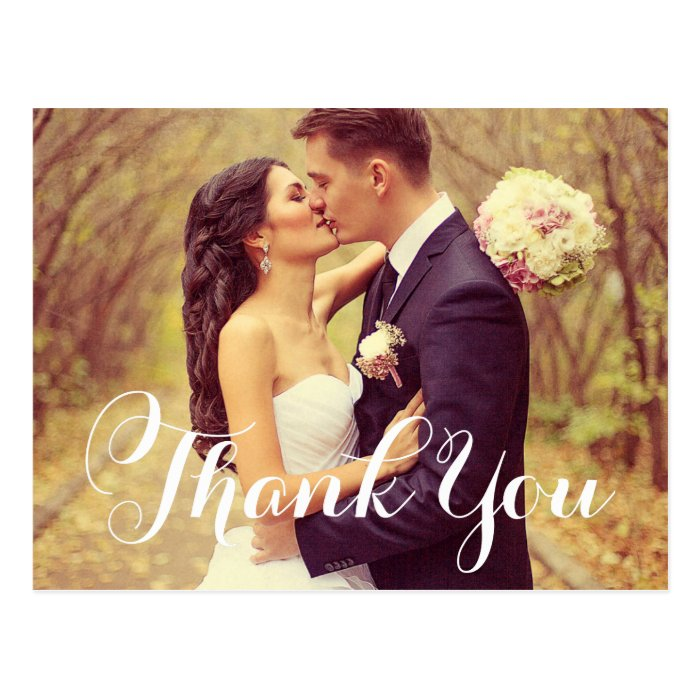 Wedding Thank You Postcards: Wedding Photo Thank You Note Cards