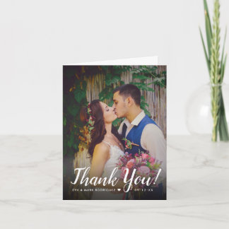 Wedding Photo Thank You Note | Folded Style