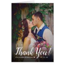 Wedding Photo Thank You Note   Folded Style