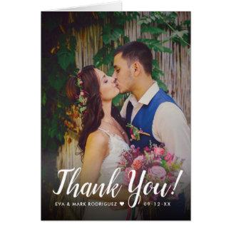 Wedding Photo Thank You Note | Folded Style Card