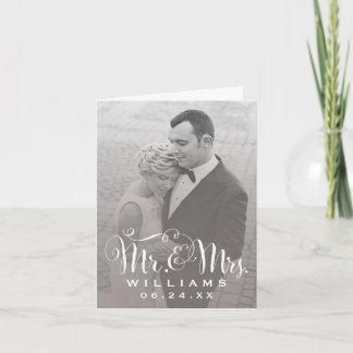 Wedding Photo Thank You Note | Sepia Folded Style