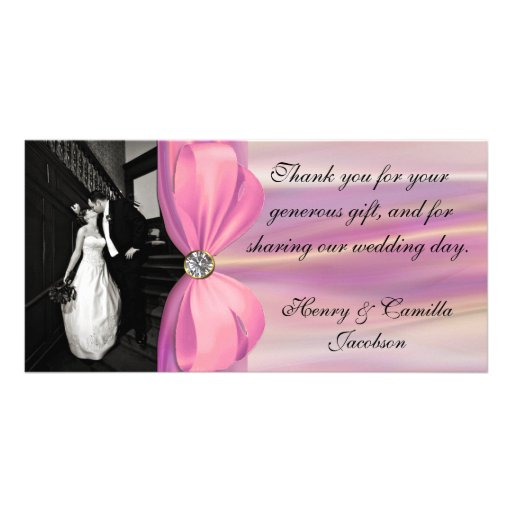 Wedding Photo Thank You Photo Card Template