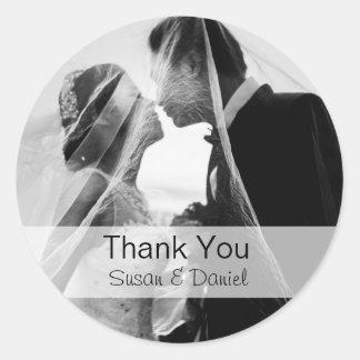 Wedding Photo Thank You Sticker