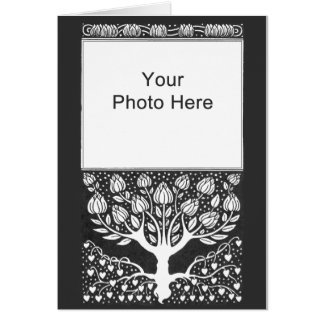 Wedding Photo Thank You Tree of Life n Hearts Cards