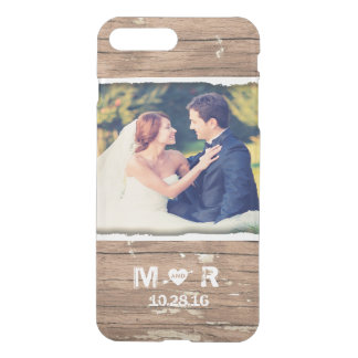 Wedding Photo Wood Rustic Country Monogram iPhone 8 Plus/7 Plus Case