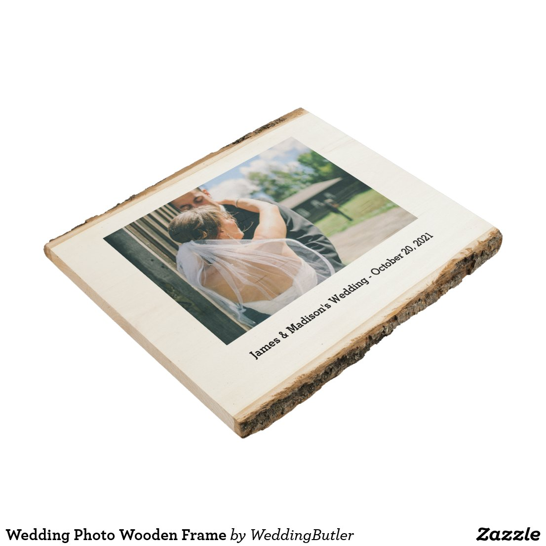 Wedding Photo Wooden Frame Wood Panel
