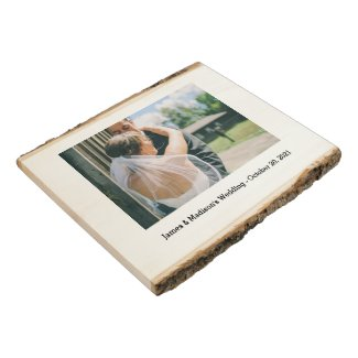 Wedding Photo Wooden Frame Wood Panel