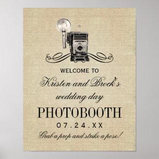 Wedding Photobooth Sign | Vintage Camera Poster