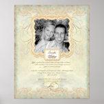 Wedding Photograph Love Chapter Baroque Elegant Posters