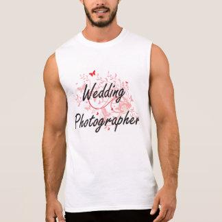 Wedding Photographer Artistic Job Design with Butt Sleeveless Shirt