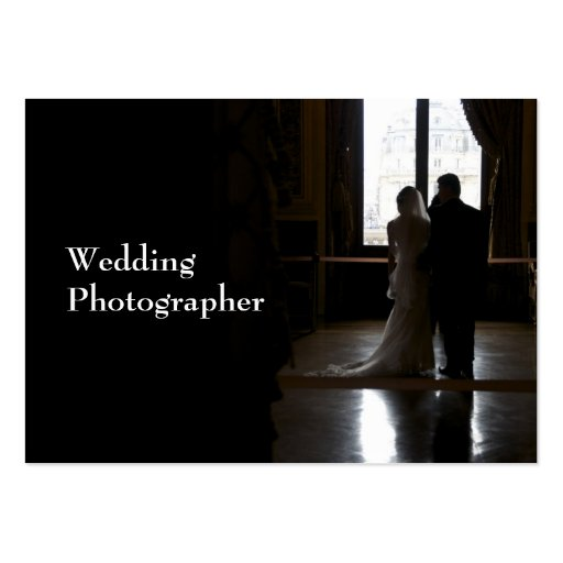 Wedding photographer large business cards pack of 100 for Wedding photography business cards