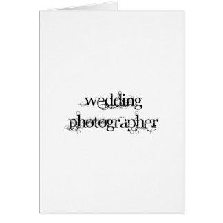 Wedding Photographer Card