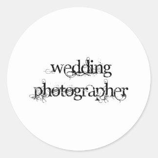 Wedding Photographer Classic Round Sticker