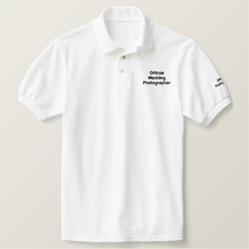 Wedding Photographer Embroidered Shirt
