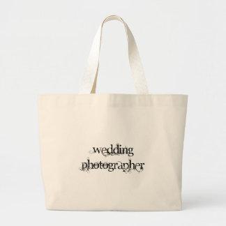Wedding Photographer Large Tote Bag