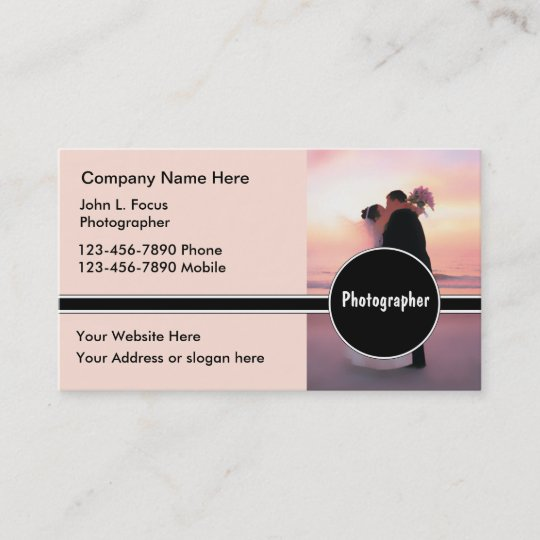 Wedding photography business cards zazzle wedding photography business cards reheart Image collections