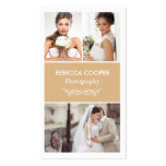 Wedding Photography Collage Elegant Toffee Color Business Card
