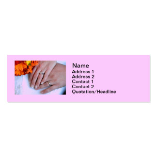 Wedding Photography Hands holding Flowers Business Card