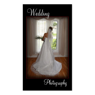 Wedding Photography Portrait Business Card
