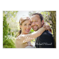 Wedding Photos Thank You 3.5 x 5 Card