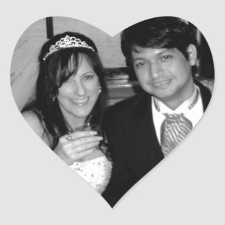 Wedding Picture Options Heart Sticker