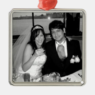 Wedding Picture Options Metal Ornament