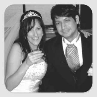 Wedding Picture Options Square Sticker