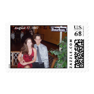 Wedding Picture w/ Date Postage Stamp