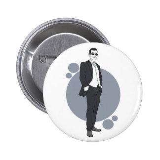 Wedding pin badge