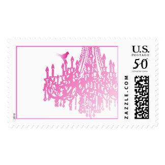 Wedding Pink Chandelier Postage Stamps