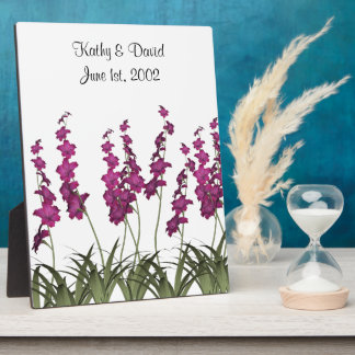 Wedding Pink Flowers Plaque
