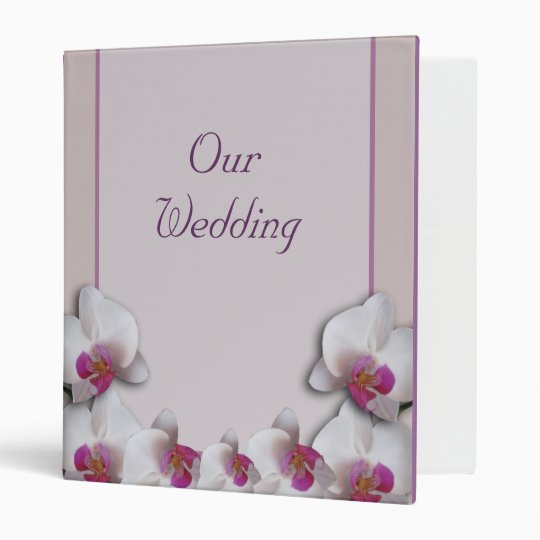Wedding Pink Orchids Avery Binder