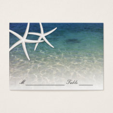 Wedding Place Card | Blue Sea Starfish Beach at Zazzle