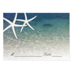 Wedding Place Card | Blue Sea Starfish Beach Large Business Card