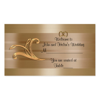 Wedding Place card gold design
