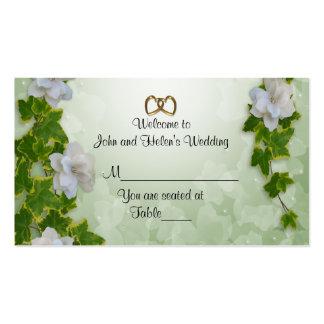 Wedding Place card Ivy and gardenias
