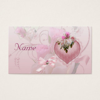 """Wedding Place Card Name Pink Floral Remove """"Name"""""""