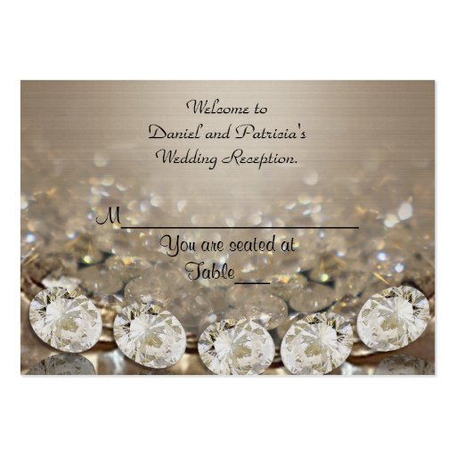 Wedding Place cards Diamonds Large Business Cards (Pack Of 100)