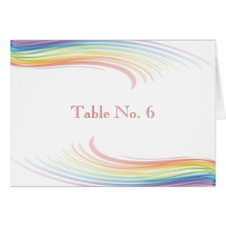 Wedding Place Cards - Rainbow Wave
