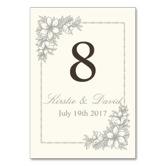 Wedding Place Marker Card with ornate graphics