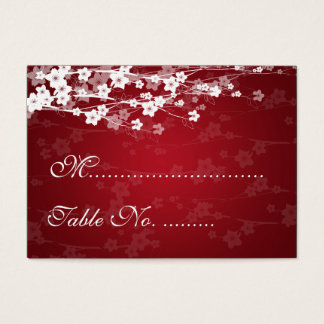Wedding Placecards Cherry Blossom Red Business Card