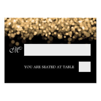 Wedding Placecards Gold Lights Business Card