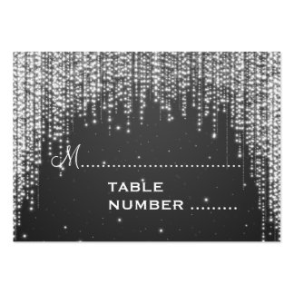 Wedding Placecards Night Dazzle Black Large Business Cards (Pack Of 100)
