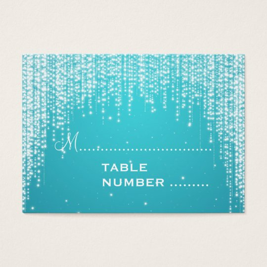Wedding Placecards Night Dazzle Blue Business Card