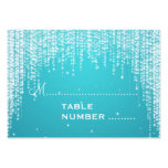 Wedding Placecards Night Dazzle Blue Business Cards