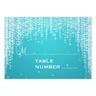 Wedding Placecards Night Dazzle Blue Large Business Cards (Pack Of 100)